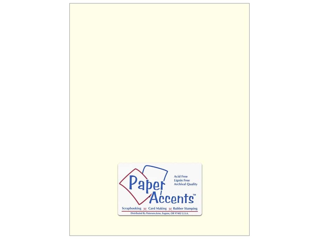 Cardstock 8 1/2 x 11 in. #63 Smooth Eggshell by Paper Accents ADP8511-25.63