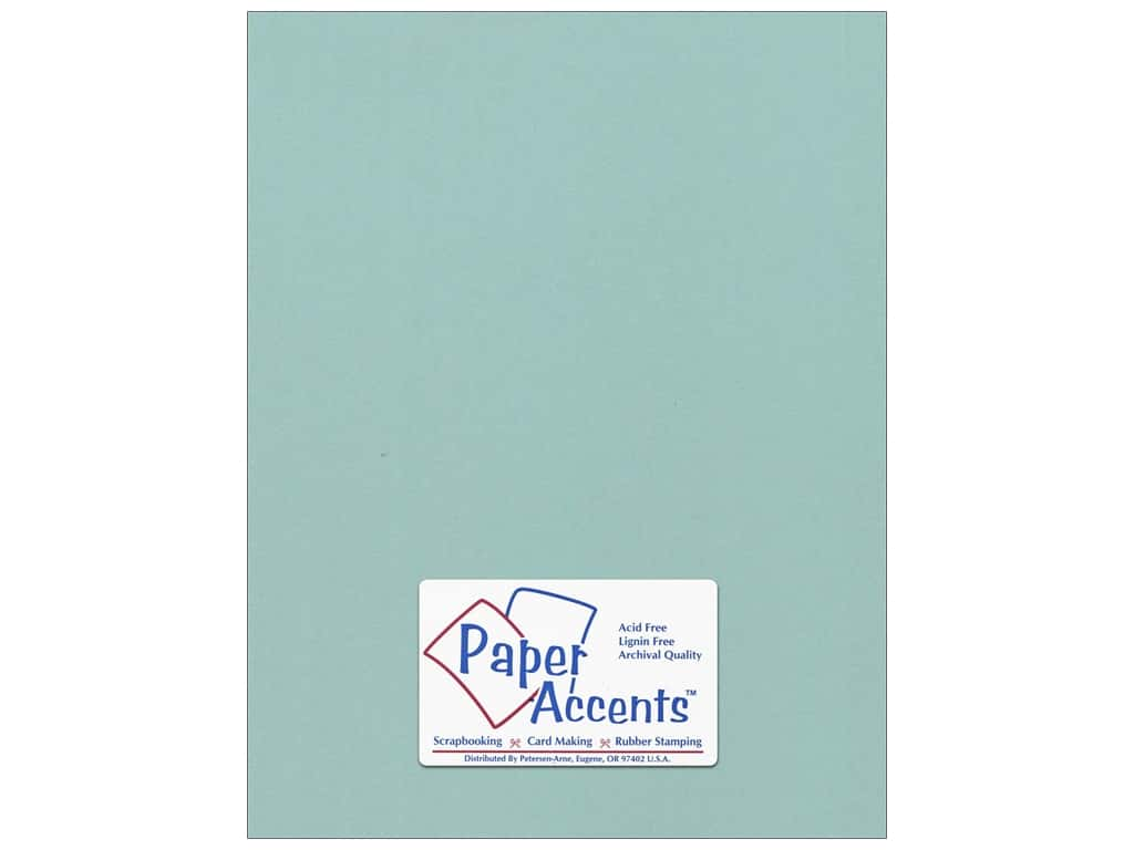 Paper Accents Cardstock 8 1/2 x 11 in. #18089 Smooth Seafoam ADP8511-25.18089