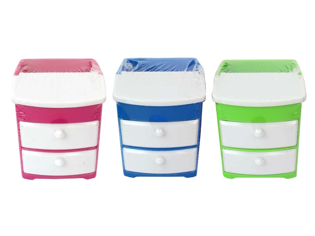 Multicraft Doo-Dads Drawers 3 1/4 x 3 in. Assorted