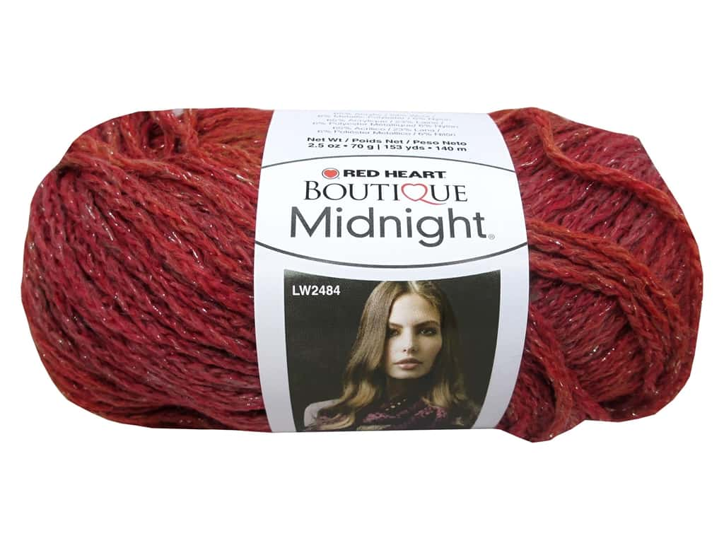 Knitting Patterns For Red Heart Boutique Midnight : Red Heart Boutique Midnight Yarn #1946 Persimmon 153 yd ...