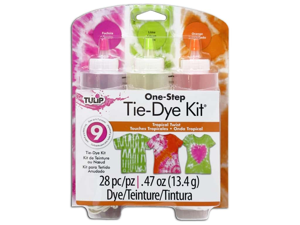 Tulip Dye Kits One Step Tie 3 Color Tropical Twist