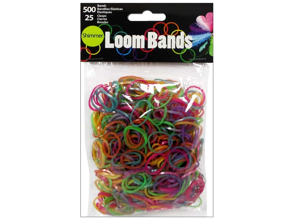 Midwest Design Loom Bands 525 pc. Shimmer Assorted 50589