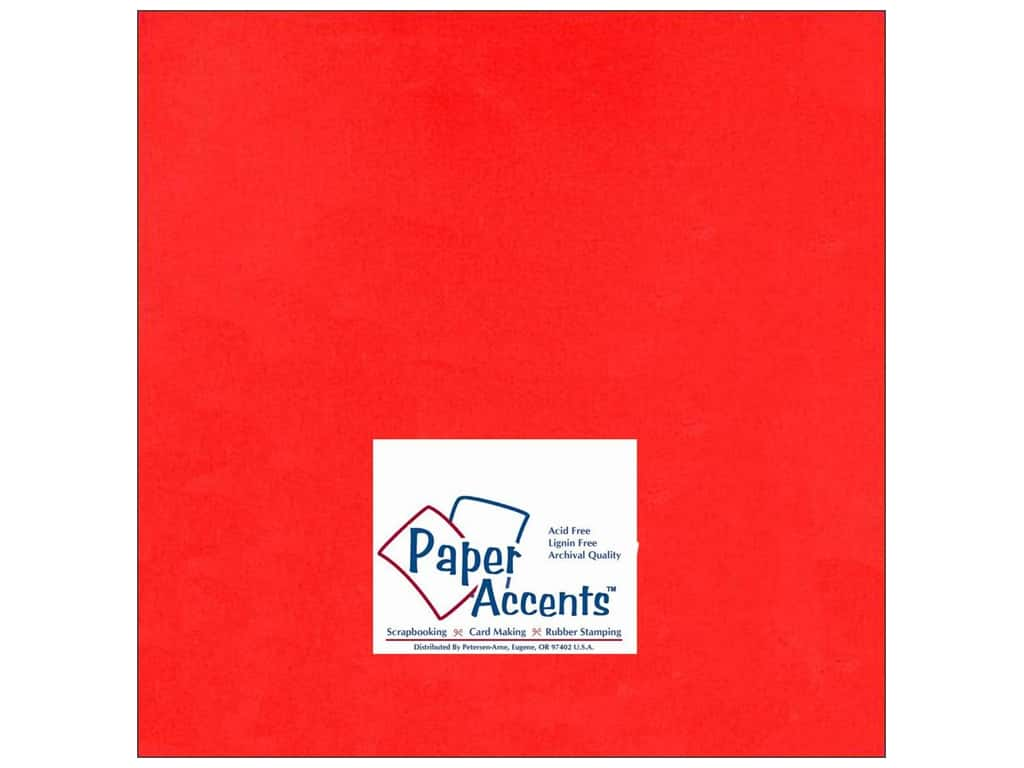 Cardstock 12 x 12 in. #101 Smooth Red by Paper Accents ADP1212-25.101