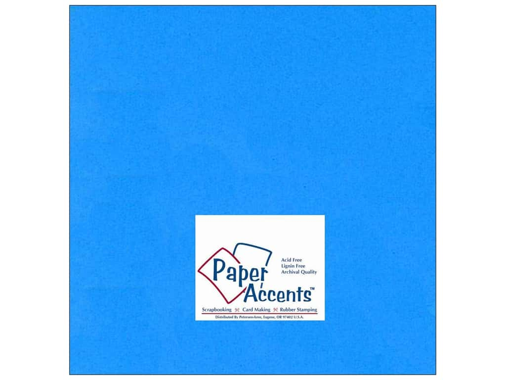 Cardstock 12 x 12 in. #103 Smooth Blue by Paper Accents ADP1212-25.103