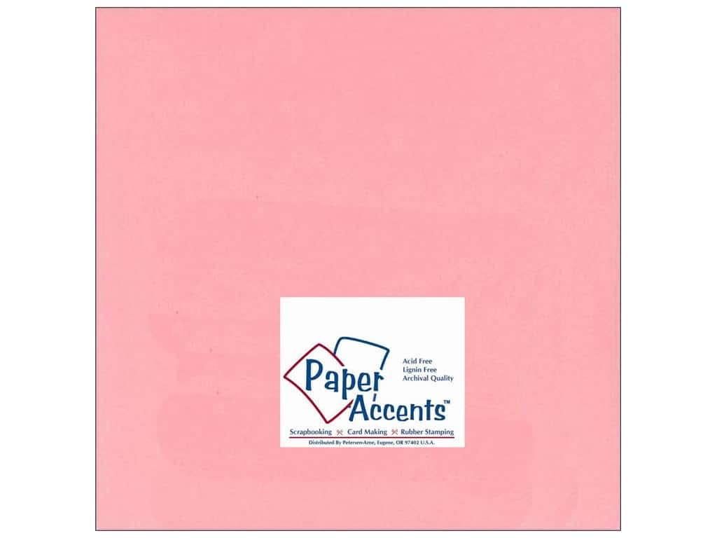 Cardstock 12 x 12 in. #124 Smooth Light Pink by Paper Accents 3 pc. ADP1212-25.124