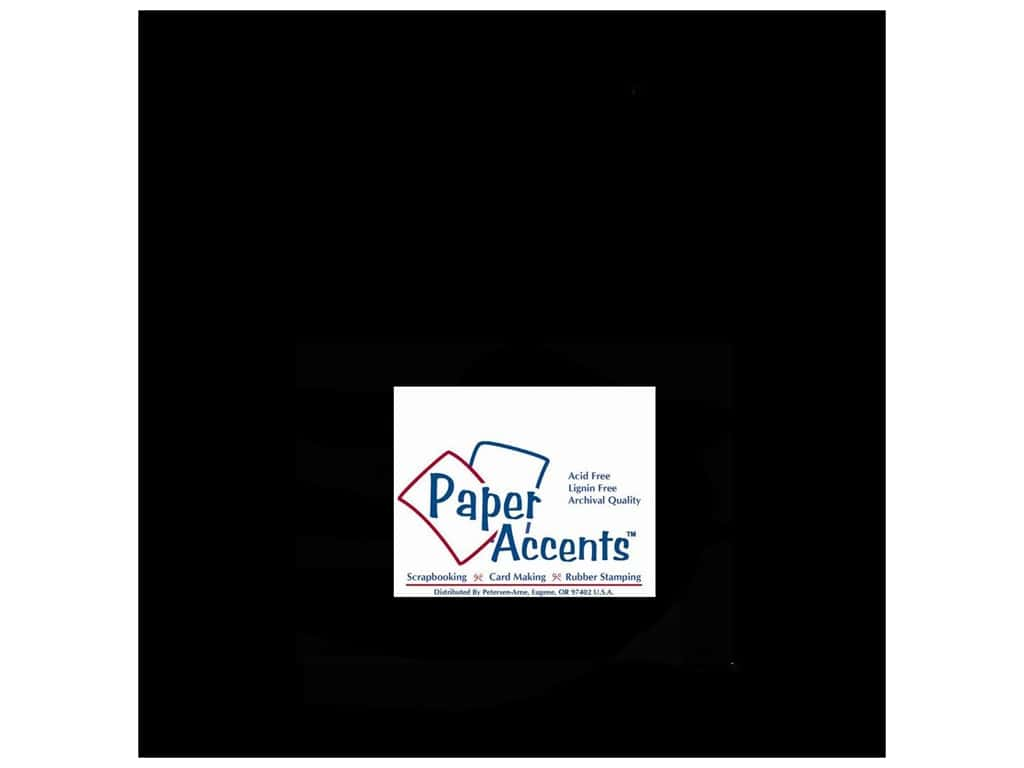 Cardstock 12 x 12 in. #127 Smooth Black by Paper Accents ADP1212-25.127