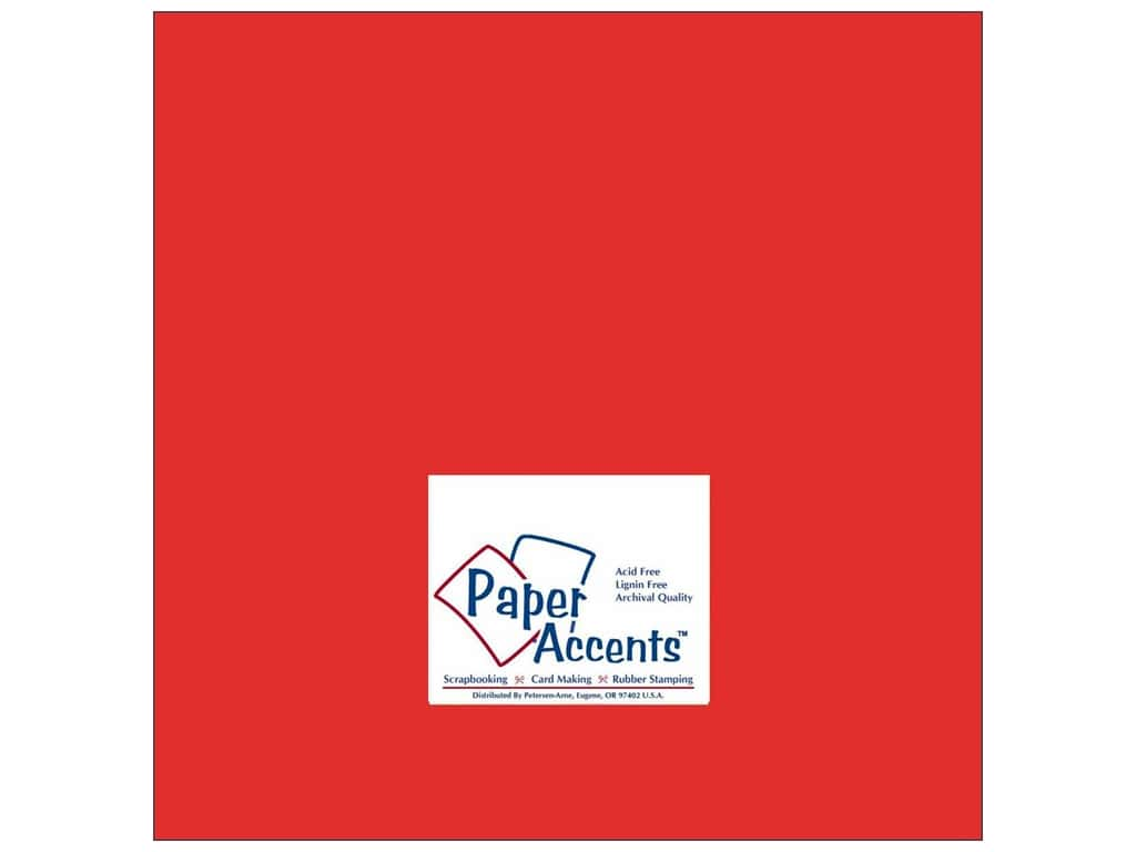 Cardstock 12 x 12 in. #178 Smooth Scarlet by Paper Accents ADP1212-25.178