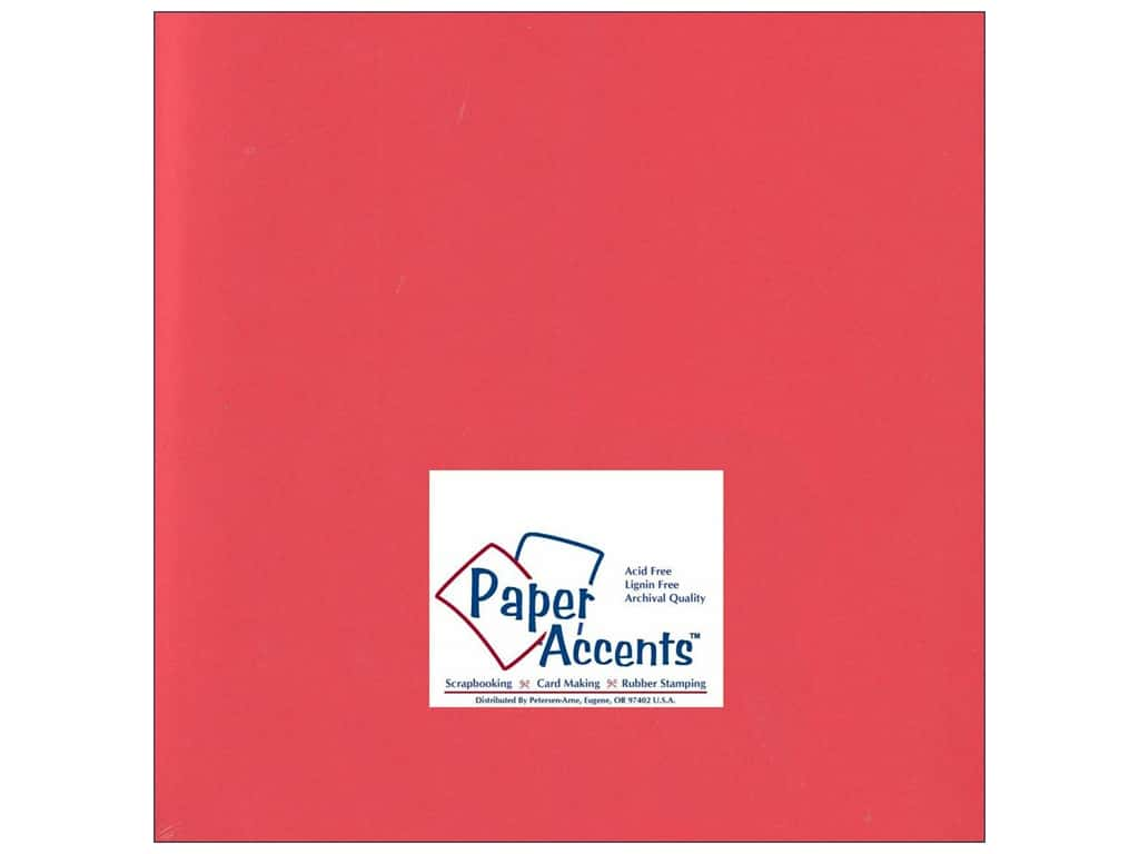 Cardstock 12 x 12 in. #197 Smooth Poppy by Paper Accents ADP1212-25.197