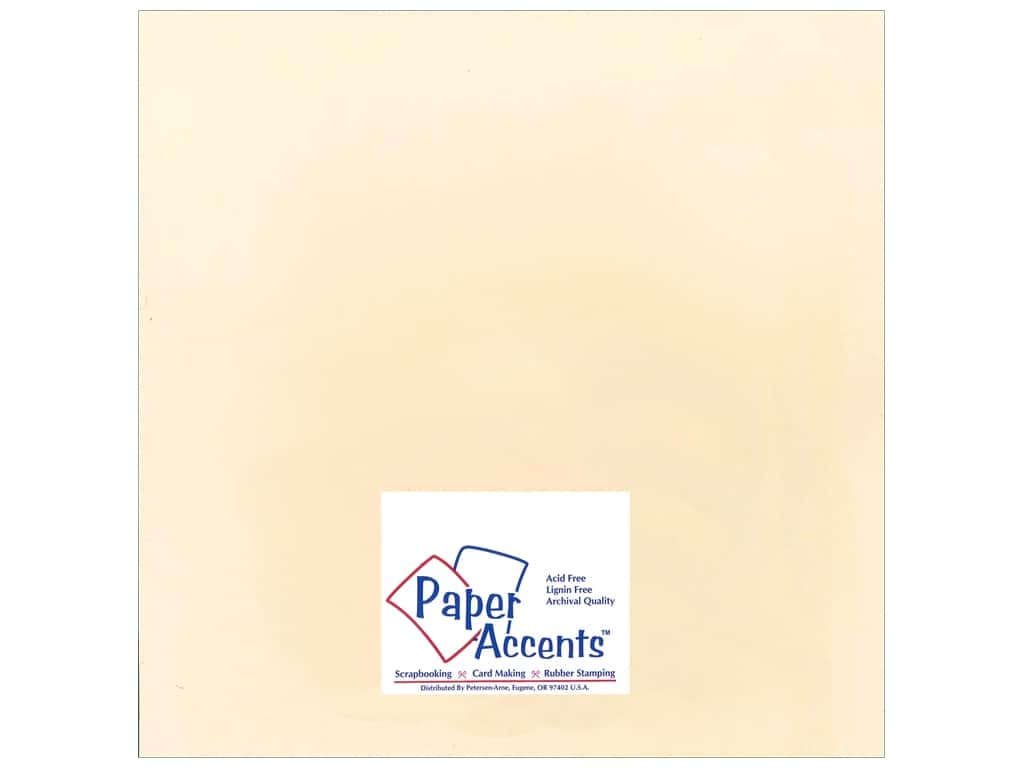 Cardstock 12 x 12 in. Smooth Manila by Paper Accents ADP1212-25.62