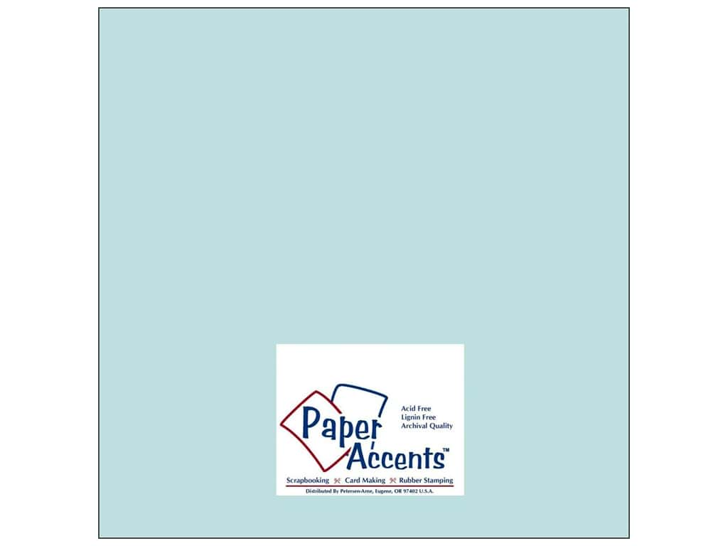 Cardstock 12 x 12 in. #8041 Muslin Vibrant Blue by Paper Accents ADP1212-25.8041