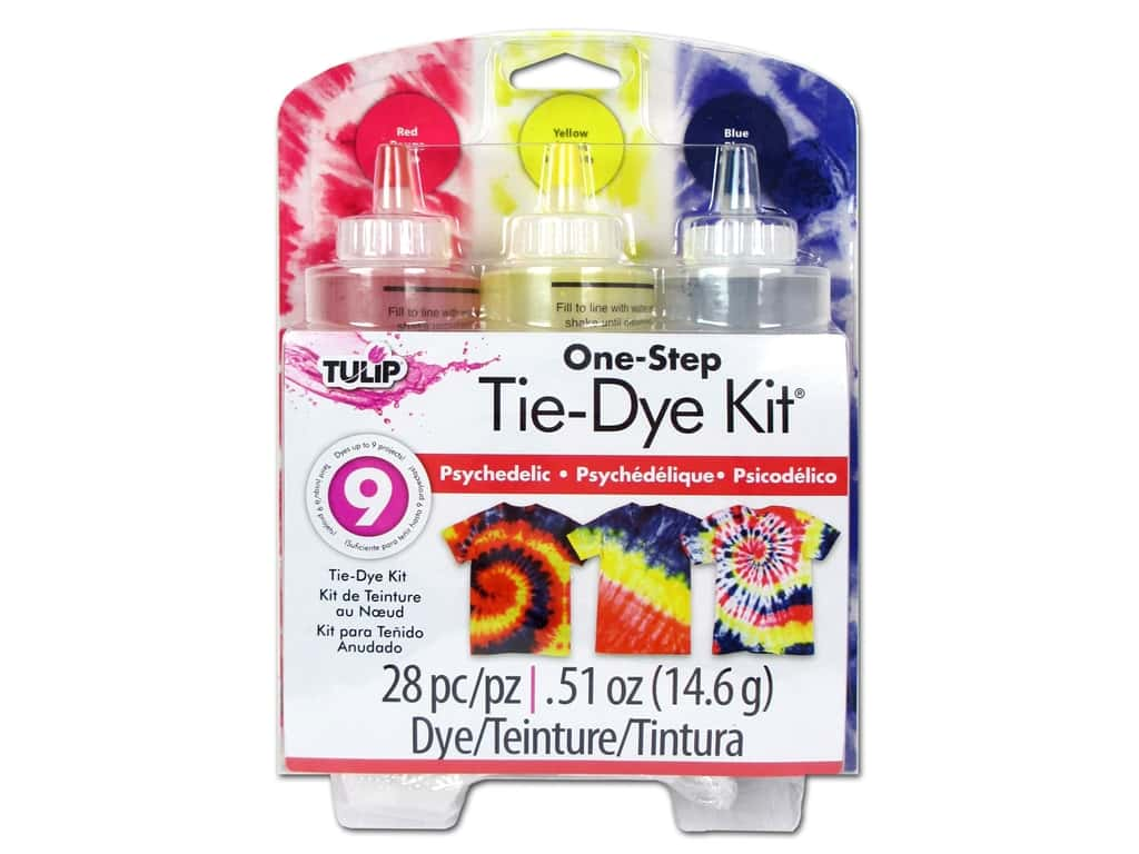 Tulip Dye Kits One Step Tie Dye Psychedelic 3 Color