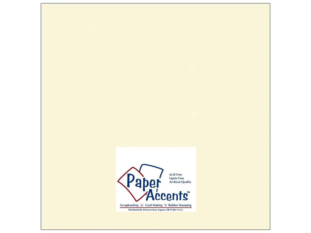 Cardstock 12 x 12 in. #119 Smooth Cream by Paper Accents ADP1212-250.119