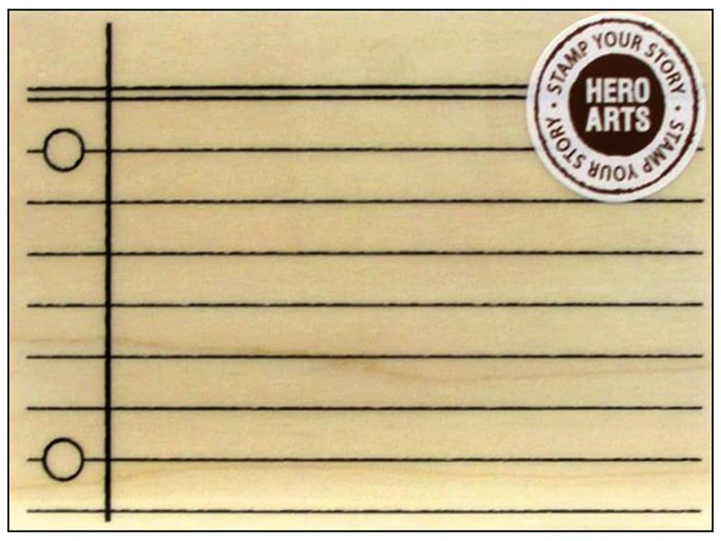 Hero Arts Rubber Stamp My Notebook Page K5781