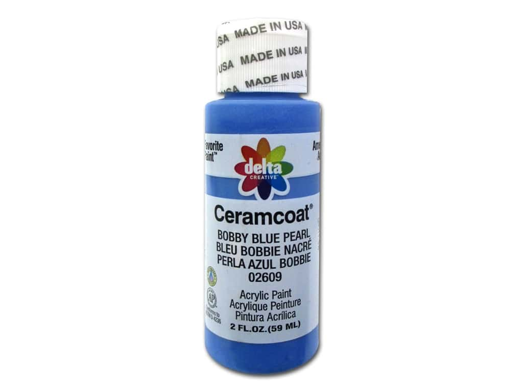 Ceramcoat Acrylic Paint by Delta 2 oz. #2609 Bobby Blue Pearl D200.2609