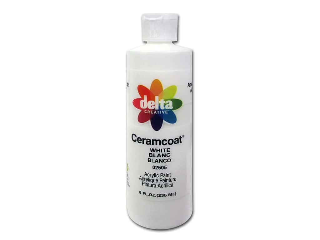 Ceramcoat Acrylic Paint by Delta 8 oz. #2505 White 0802-2505