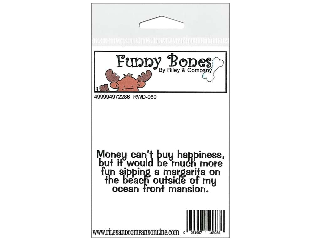 Riley & Company Cling Stamps Funny Bones Money Cant Buy RWD-060