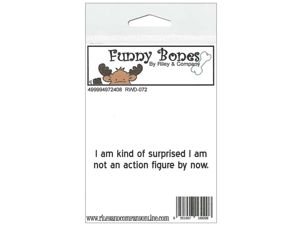 Riley & Company Cling Stamps Funny Bones Action Figure RWD-072