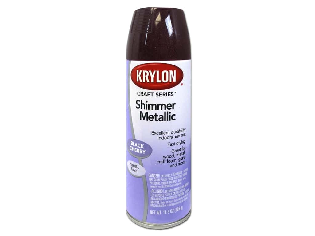 Krylon Shimmer Metallic Spray Paint 11 5 Oz Black Cherry Ebay
