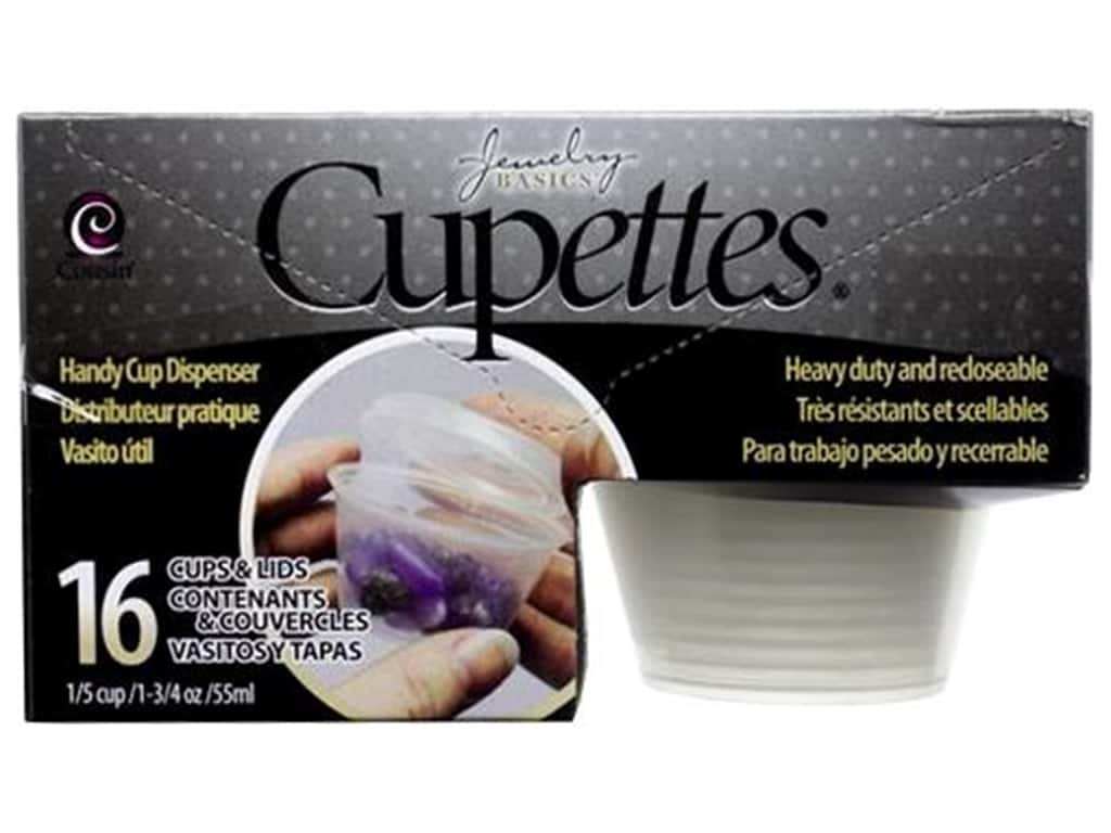 Cousin Tool Cupettes 1.75 oz Cup & Lid 16pc