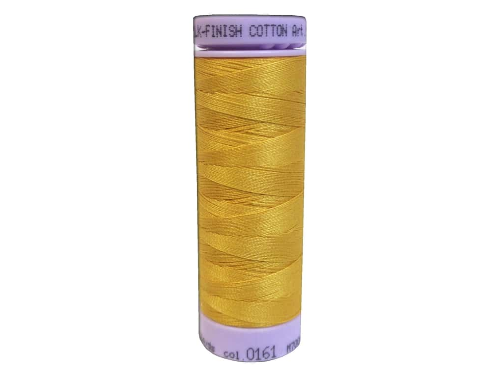 Mettler Silk Finish Cotton Thread 50 wt. 164 yd. #0161 Marigold 9105.0161