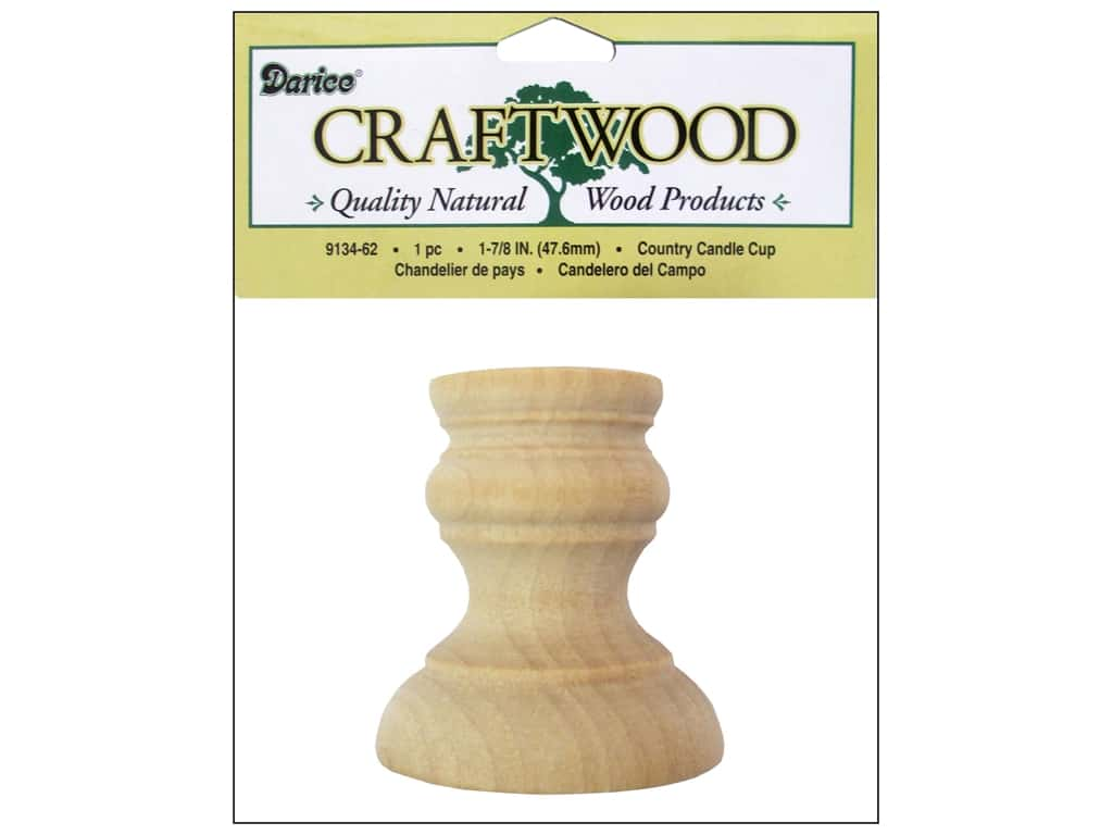 Darice Wood Craftwood Country Candle Cup 1 7/8 in. 9134-62