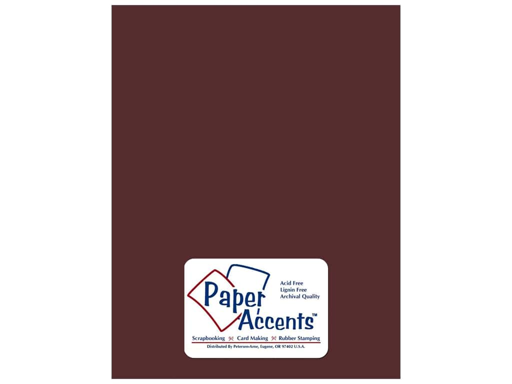 Cardstock 8 1/2 x 11 in. Smooth Merlot by Paper Accents ADP8511-25.6164