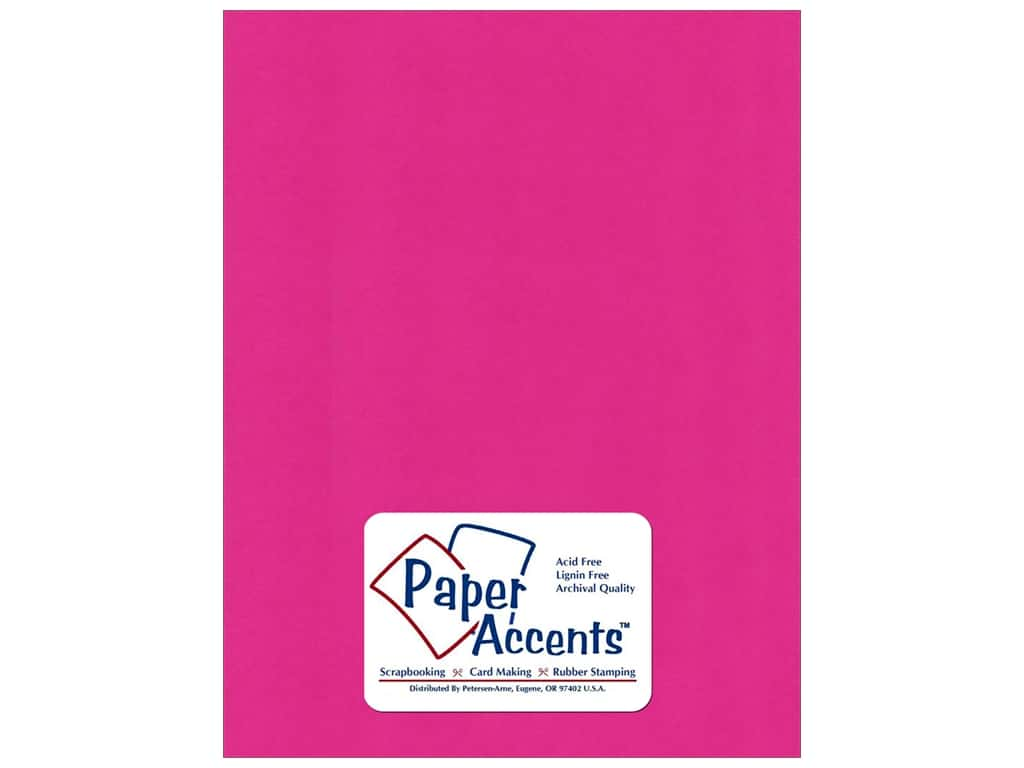 Cardstock 8 1/2 x 11 in. Smooth Raspberry by Paper Accents ADP8511-25.6165