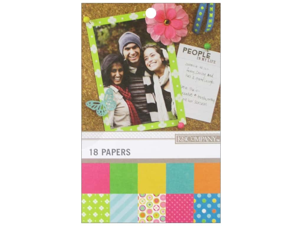 K & Company 4 3/4 x 6 3/4 in. Paper Pad Color Basics Radiant