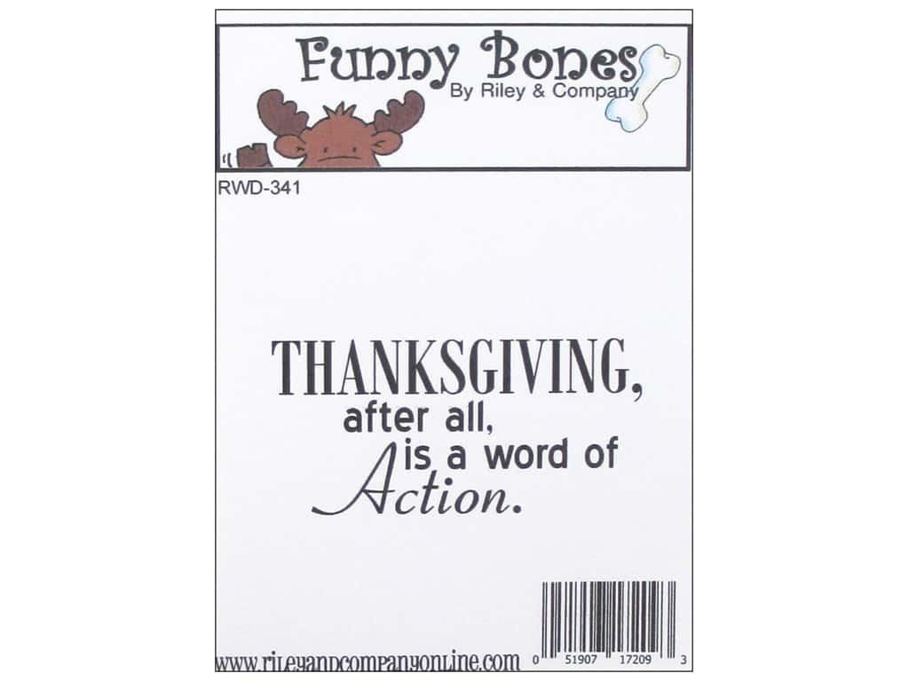 Riley & Company Cling Stamps Funny Bones Thanksgiving RWD-341