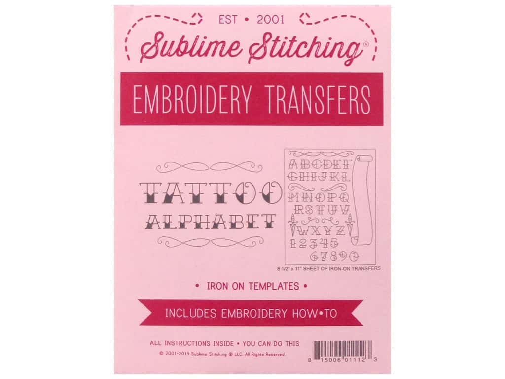 Sublime Stitching Patterns Tattoo Alphabet Pattern