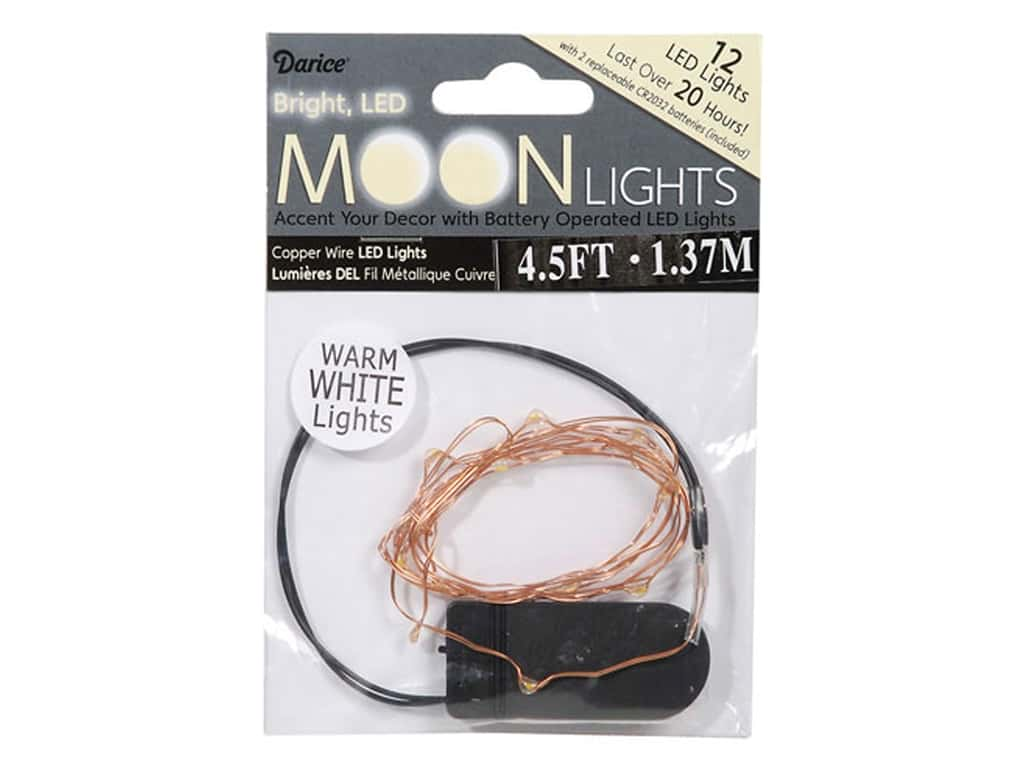 Darice Light Moon LED Copper Wire 12 Warm White MOON-100