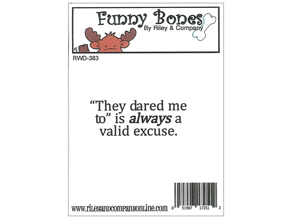 Riley & Company Cling Stamps Funny Bones They Dared Me RWD-383