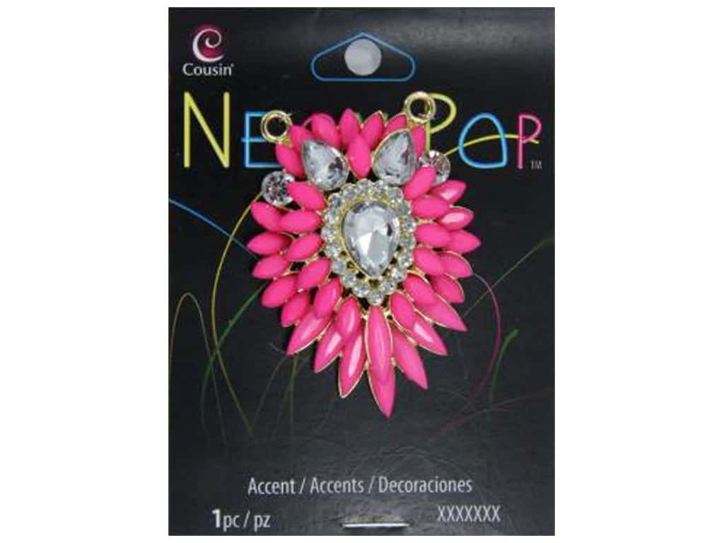 Cousin Neon Pop Collection Cluster Accent Pink/Clear