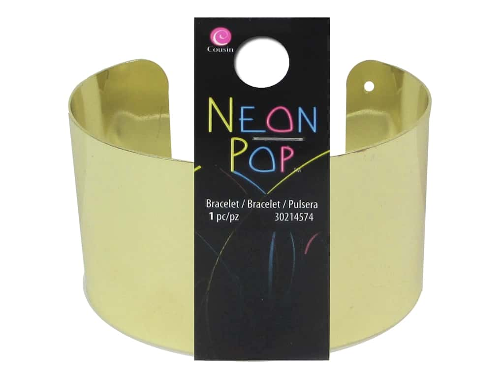 Cousin Neon Pop Collection Cuff Bracelet Gold