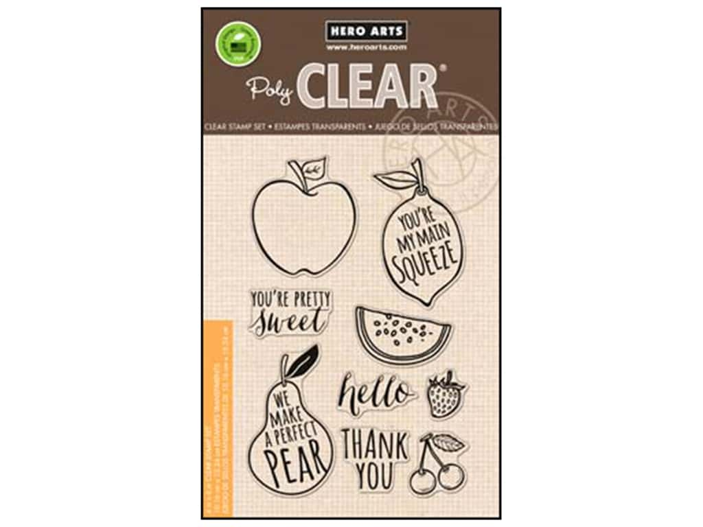 Hero Arts Poly Clear Stamps Your Own Fruit CL835