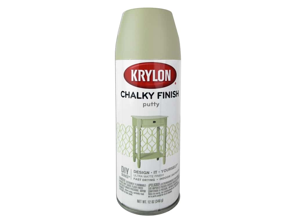 Krylon Chalky Finish Paint 12 Oz Putty Ebay