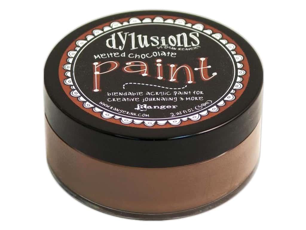Ranger Dylusions Paint 2 oz. Melted Chocolate DYP46011
