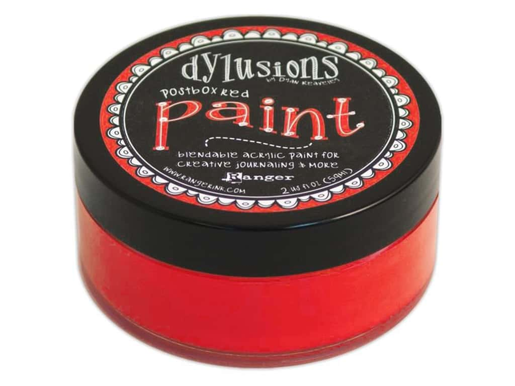 Ranger Dylusions Paint 2 oz. Postbox Red DYP46028