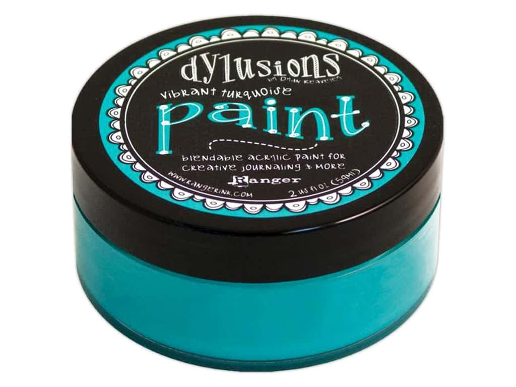 Ranger Dylusions Paint 2 oz. Vibrant Turquoise DYP46042