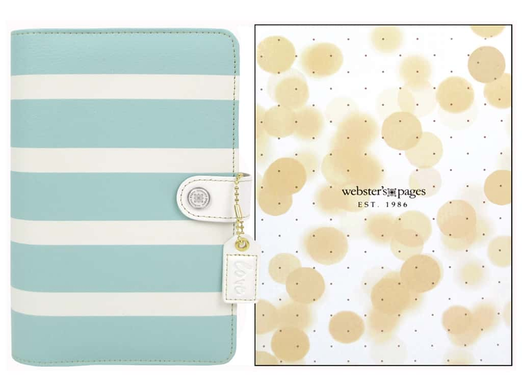 Webster's Pages Color Crush 2015 Personal Planner Kit Teal Stripe