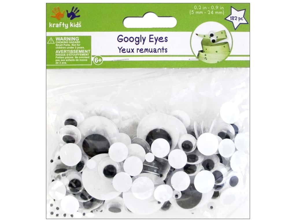 Multicraft Krafty Kids Googly Eyes 5mm-24mm