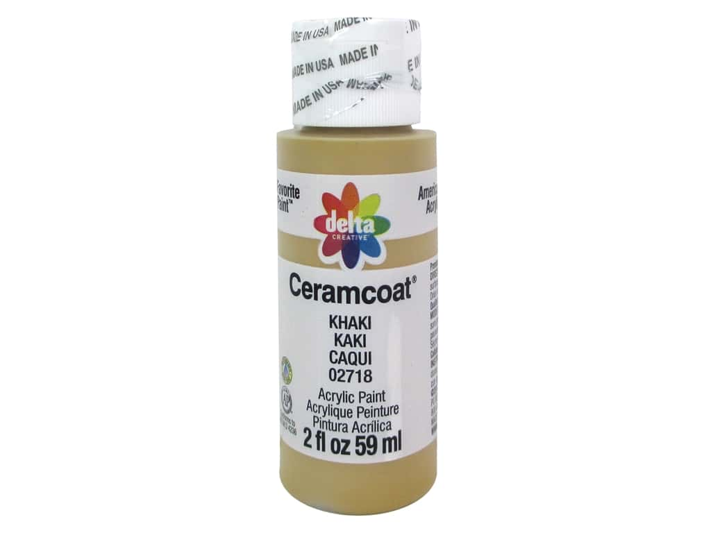 Ceramcoat Acrylic Paint by Delta 2 oz. #2718 Khaki D200.2718