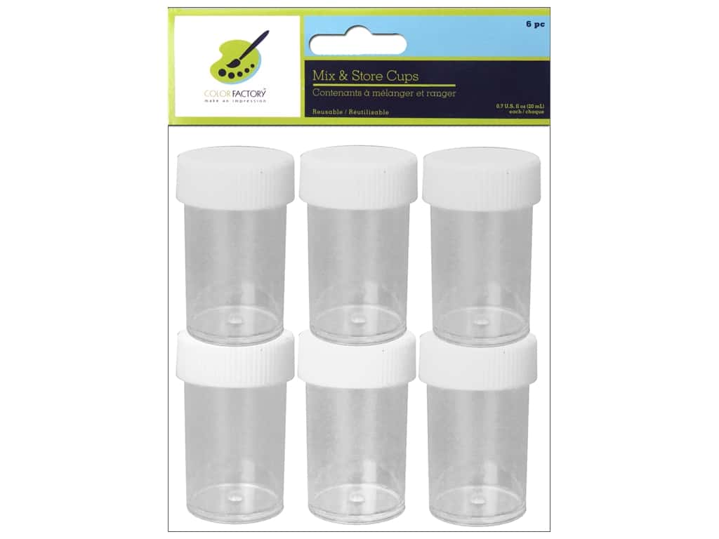Multicraft Mix & Store Cups 6pc