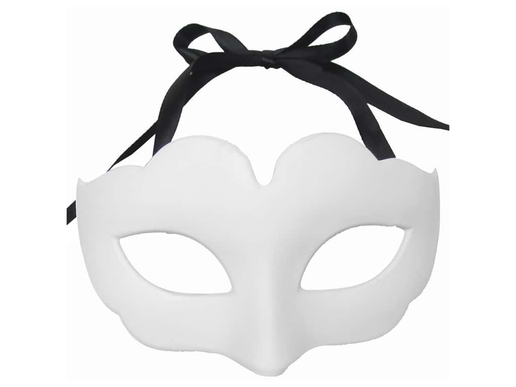 Midwest Design Mask Half Plain White