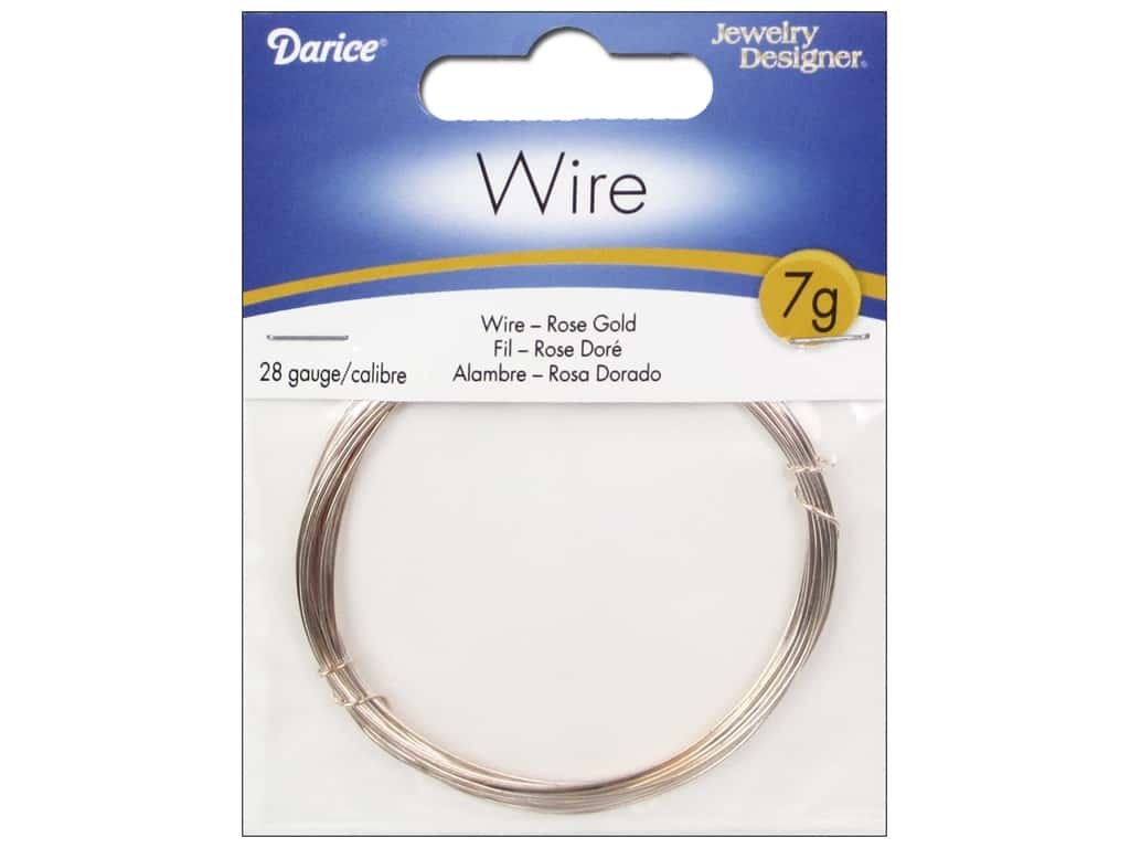Darice Jewelry Wire Aluminum Jewelry Designer 28Ga Rose Gold 7gr RG1010