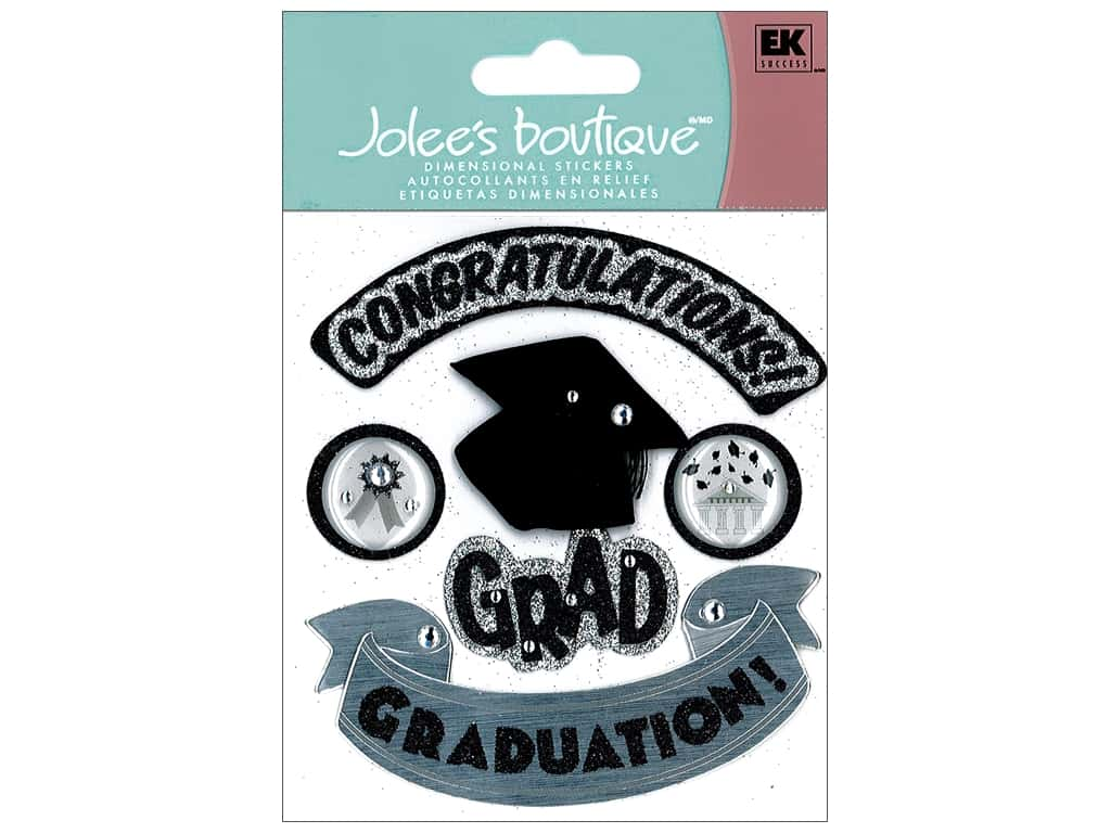 Jolee's Boutique Stickers Hats Off Grad 50-20419