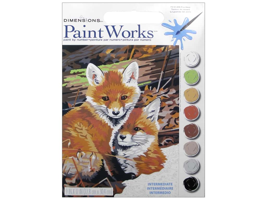 Paintworks Paint By Number Kit 9 x 12 in. Fox Hole 73-91488