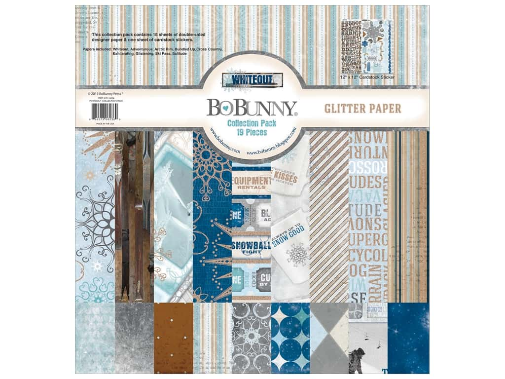 Bo Bunny 12 x 12 in. Collection Pack Whiteout 19116236