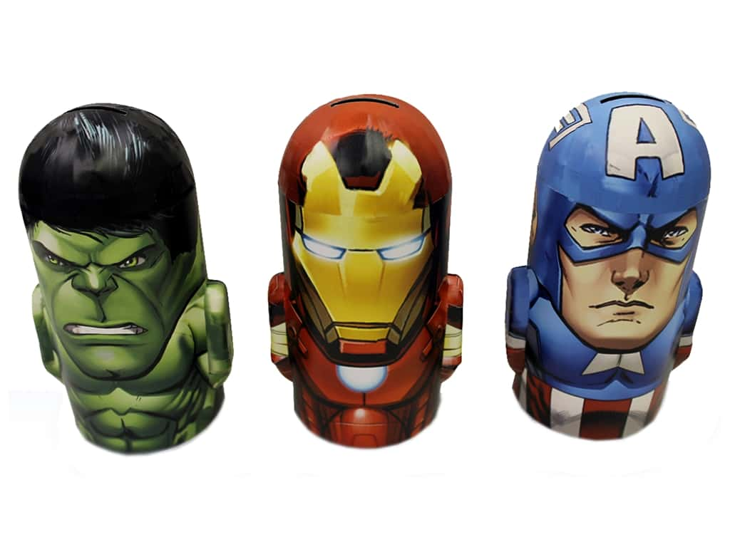 Tin Box Co Coin Bank Marvel Avengers 1 pc.