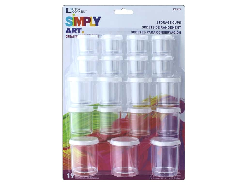 Loew Cornell Simply Art Storage Cups 19pc 1021078